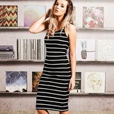Brave Soul Womens/Ladies Rib Striped Yarn Midi Dress (M)
