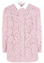 Valentino Lace Cotton-blend Blouse