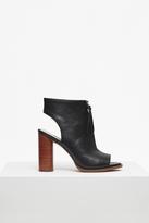 Utarra Zip Front Peep Toe Boots