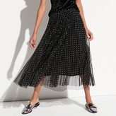k / lab k/lab Pleated Mesh Midi Skirt