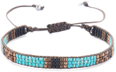 Mishky Turquoise & Brown Hanging Bead Bracelet