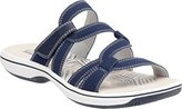 Clarks Women's Brinkley Lonna Slide Sandal, Navy