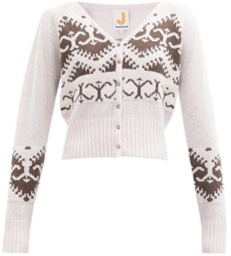 JoosTricot Norwegian-knit Merino Wool-blend Cardigan - Pink Multi