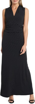 Vince Camuto Pin Dot Jersey Maxi Dress