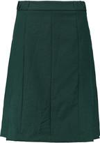 Marni Pleated twill skirt