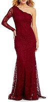 Xscape Evenings One Shoulder Lace Gown