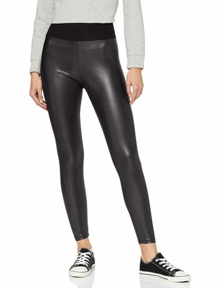 Urban Classics Women's Ladies Faux Leather High Waist Leggings