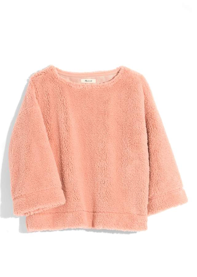 Madewell Faux Fur Top