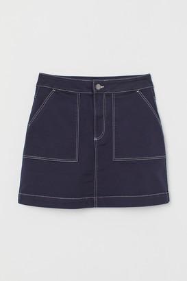 H&M Twill utility skirt