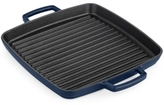 """Martha Stewart Collection Martha Stewart Collection Blueberry 11"""" Enameled Cast Iron Grill Pan"""