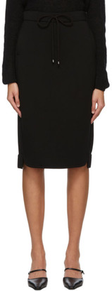MAX MARA LEISURE Black Ozioso Mid-Length Skirt