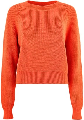 Blonde Gone Rogue Organic Jumper In Tomato Red