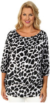 MICHAEL Michael Kors Size Water Ikat Draped Cover-Up