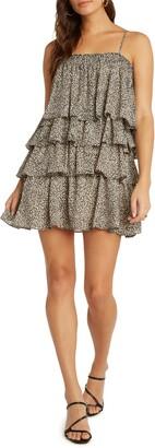 Willow Marbella Tiered Ruffle Minidress