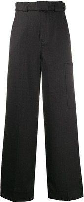 Ganni High-Waisted Tailored Trousers