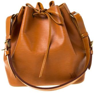 Louis Vuitton Cipango Gold Epi Leather Petit Noe Shoulder Bag