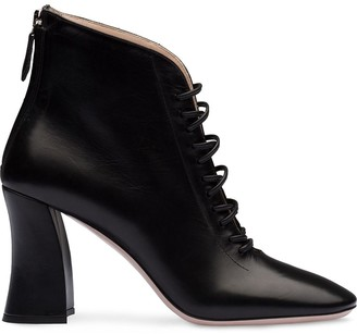 Miu Miu Lace-Up Booties