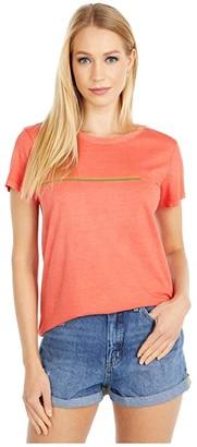RVCA United Stripe Tee (Paprika) Women's Clothing