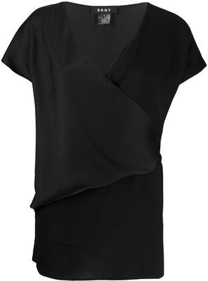 DKNY V-neck wrap T-shirt