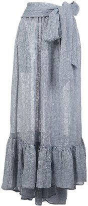 Lisa Marie Fernandez Nicole pleated maxi skirt