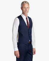 Ted Baker Wool Suit Waistcoat Mid Blue