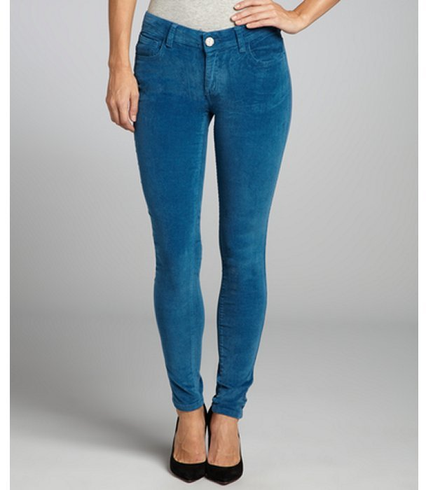 Romeo & Juliet Couture moroccan blue stretch corduroy skinny pants