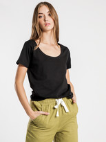 Nude Lucy Jamie Basic Scoop T-Shirt in Black