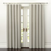 Crate & Barrel Desmond Silver/Cream Curtain Panels