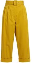 Isa Arfen Safari high-waist cropped trousers