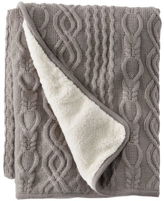 L.L. Bean Chunky Cabled Fleece Throw