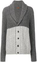 Barena shawl lapel tonal cardigan - women - Acrylic/Wool/Alpaca - L