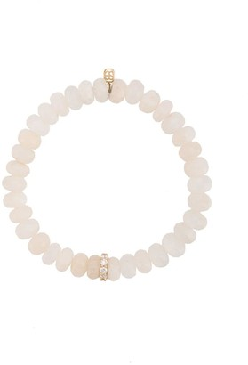 Sydney Evan 14kt Gold Diamond Rondelle Moonstone Beaded Bracelet