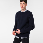 Paul Smith Men's Navy Ribbed Merino Wool Sweater