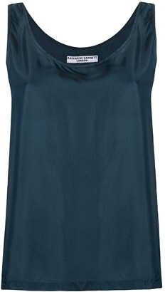 Katharine Hamnett Sleeveless Silk Blouse