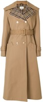 Gucci butterfly applique gabardine trench coat