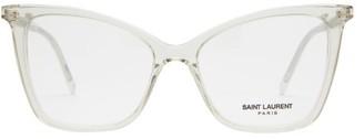 Saint Laurent Cat-eye Acetate Glasses - Clear