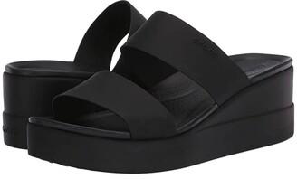 Crocs Brooklyn Mid Wedge (Black/Black) Women's Wedge Shoes