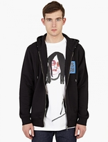 Raf Simons Black Printed Zip-up Hoodie