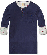 Scotch & Soda Bonded Grandad T-Shirt