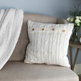 """Congdon Cable Knit Toss Cotton 17"""" Throw Pillow Gracie Oaks Color: Ivory"""