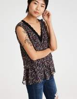American Eagle Outfitters AE PEPLUM SLEEVELESS TOP