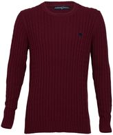 Raging Bull Cable Knit Sweater Claret