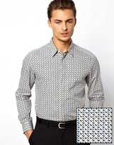 Asos Smart Shirt in Long Sleeve with Ditsy Print