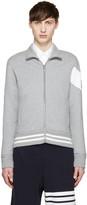 Moncler Gamme Bleu Grey Zip-Up Sweater