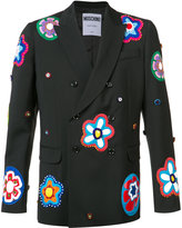 Moschino floral appliqué blazer - men - Virgin Wool - 48