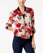 INC International Concepts Floral-Print Bomber Jacket, Only at Macy's