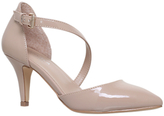 Carvela Kite Mid Heel Court Shoes, Nude Patent