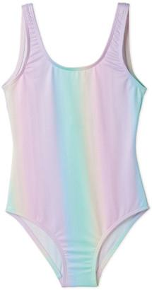 Stella Cove Girls' Rainbow Tank One-Piece Swimsuit, 2-14