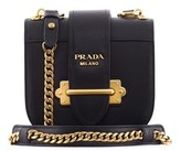Prada Women's Black Leather Shoulder Bag.