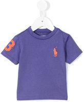 Ralph Lauren logo embroidered T-shirt - kids - Cotton - 3 mth